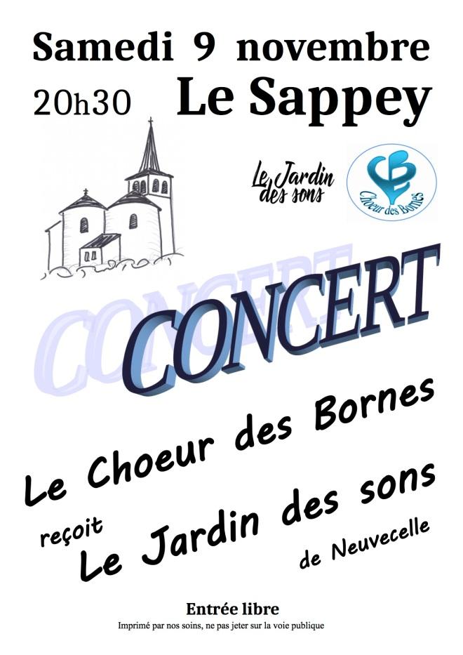 Aff Concert J des S- Sappey 09.11.19